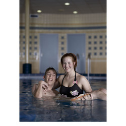 Advertising Red Cross. 4x5 inch film.