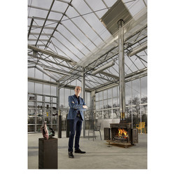 Entrepreneur and artist Bart Stok photographed for Van Lanschot Bankiers. After selling his family company King Cuisine Bart Stok built on a old camping site a Artist in Residence and called it MIETair (www.mietair.com)