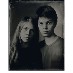 Amelie & Gilbert - Scan from Wet plate Tintype 20x25cm. Info/booking: www.silverportraitstore.nl