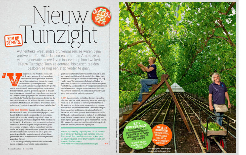 Publication Smaakmakend Magazine - Hilde and Arnold Jansen Nieuw Tuinzight.